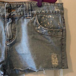 O'Neill Shorts - O'Neill Distressed Cut-Off Denim Shorts